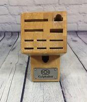 Calphalon Wooden Knife Block Only - 11 slots - Cutlery Storage Holder Kitchen