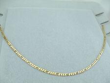 Collana Oro Maglia Figaro Unisex Catena Uomo Donna Girocollo 60 cm gioielli