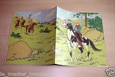 Mini Poster ou fiche planche d'un puzzle édité de Tintin en Amérique Hergé *b1*