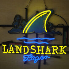 "New Landshark Lager Open Beer Bar Neon Light Sign 24""x20"""