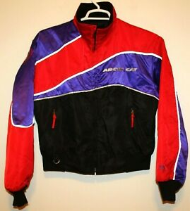 1980's Arctic Cat Panther Snowmobile Jacket Purple Red Black Womens M SAMPLE