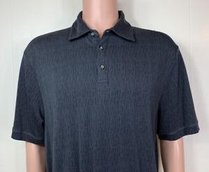 Nat Nast Men's Large Polo Shirt Luxury Original Short Sleeve Black Golf