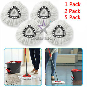 KEEPOW 3 Pack Replacement Mop Heads Refill Compatible with O-Cedar EasyWring Microfiber Spin Mop
