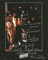 Dave Prowse & Ken Colley Star Wars inc quotes hand signed photo UACC Dealer