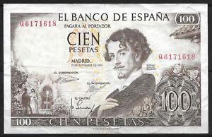 Ticket 100 Pesetas 1965. El Banco de España