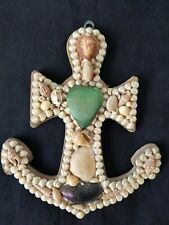 More details for sailors valentine - shell  anchor  - late victorian.