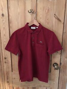Lacoste Mens Burgundy Polo Shirt (Medium)