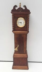 BRIAN MASTERS WORKING GRANDFATHER CLOCK DOLLS HOUSE DOLLHOUSE ARTISAN VINTAGE