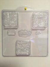 Art Nouveau Milky Way Soap Mold. 3 cavities. 3 different patterns