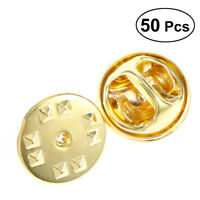 50x Golden/Silver Clutches Pin Backs Replacement Butterfly Clutch Badge Insignia