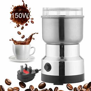 220V Electric Coffee Grinder Spice Nut Seed Herb Crusher Mill Bean Blender Blade