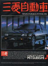 Publicité Advertising 1984  MITSUBISHI COLT GTI TURBO