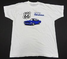 REDISCOVER OKLAHOMA Route 66 CAR White Graphic T-Shirt Men's Size XXL(50-52)