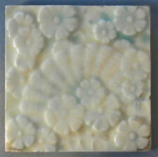 Vintage Trent Tile Victorian Flowers and Fan Antique Ceramic Aesthetic Pottery