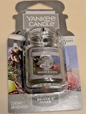 *NEW* Yankee Candle Car-Jar Ultimate Air Freshener ~ BALSAM & CLOVE