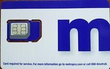MetroPCS TRIPLE SIM CARD Fits: Nano+Micro+Regular USE TMOBILE NETWORK.8/20