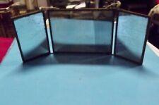 Ancien Miroir triptyque de barbier deco salle de bain loft vintage chasse à cour