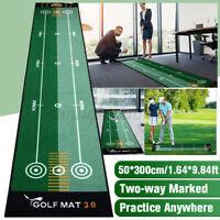Golf Putting Matte 50*300cm Golfmatte Übungsmatte Außen / Innen Training Matte