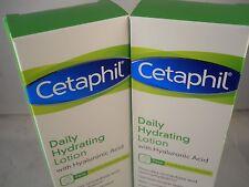 Cetaphil Daily hydrating Lotion, w/ hyaluronic acid 3.oz each (2pks) fresh & new