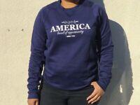 Rush Limbaugh Show America RLS Sweater Sweat Shirt Men's Navy NEW ERA S L 2XL