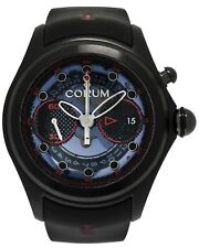 CORUM BIG BUBBLE CENTRO PVD TITANIUM CHRONOGRAPH AUTOMATIC MEN'S WATCH $13,600