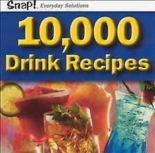 SNAP! 10,000 Drink Recipes (Jewel Case), Excellent Windows 98, Windows 2000, Win