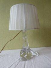 Lampe de chevet en cristal  Cristallerie Lorraine Vintage