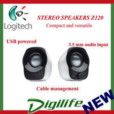 Logitech Z120 USB Compact Mini Stereo Speakers for Music Players PC Computer