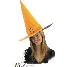 Chapeau de sorcier / sorcière velours orange 5835 halloween corso carnaval fetes