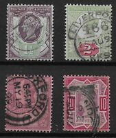 1887 Jubilee 1&1/2d., 2d., 6d.,10d. Fine Used & In Very Good Condition. Ref.0975