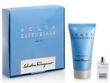 SALVATORE FERRAGAMO AQUA ESSENZIALE MINIT GIFT SET NEW+BOXED+SEALED+FOR HIM