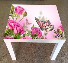 Flor Mariposas Pegatina de vinilo adecuado para tabla/Mesa de centro de Ikea falta lk9