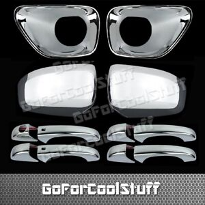 For 11-13 Jeep Grand Cherokee Mirror+ 4 handle W/Smart kh+Fog Lamp Chrome Cover