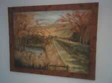Old oil painting on board landscape signed Vic Ansell