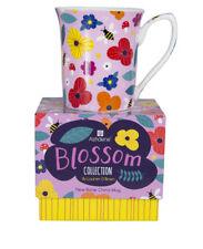 New Bone China Tea Coffee Mug Cup Bee Mushrooms Flowers
