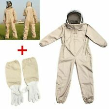 Bee Suit Smock Beekeeping Protective Goatskin Gloves Safely Clothes hat M