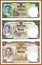 Thailand, 1-5-10 Baht 2007 Pick 117b UNC > Commemorative uncut sheet