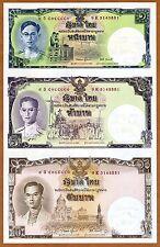 Thailand, 1-5-10 Baht 2007 Pick 117b UNC > Commemorative uncut sheet