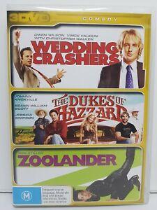 Wedding Crashers / Dukes of Hazzard / Zoolander (DVD PAL Region 4) Owen Wilson