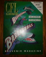 Cfl Illustrated Football 1995 Program Birmingham Barracudas Inaugural Home Game