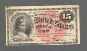 1863 US 15 Fifteen Cents Fractional Currency Fourth Issue 15C Fr 1268 MINT! S562
