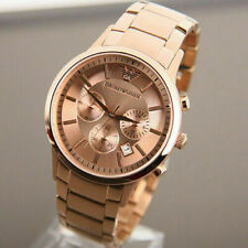 NEW GENUINE EMPORIO ARMANI AR2452 ROSE GOLD CHRONORAPH MEN'S WATCH UK RRP £399