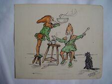 Impression bande dessinée Signé par A. Daniels. daté à 1914