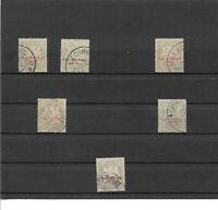 Bayern 1876-1895, Portomarken aus MiNrn: 1 - 13 o, gestempelt o, zur Auswahl