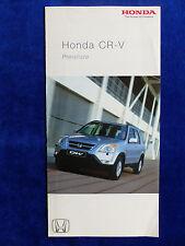 Honda CR-V - Preisliste - Prospekt Brochure 04.2003