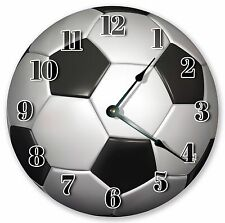 "10.5"" SOCCER BALL CLOCK - Large 10.5"" Wall Clock - Home Décor Clock - 3095"