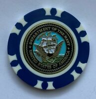 New US Navy Golf Ball Marker with Magnetic Poker Chip