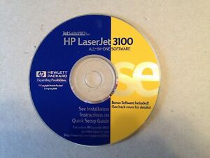 HP LaserJet 3100 Installation Software JetSuite Pro - PRE OWNED