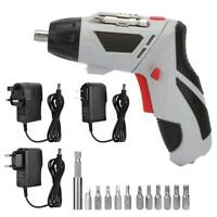 Cordless Electric Rechargeable Screwdriver and Bits Drill Kit Power Tool 4.8V