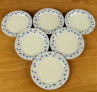6 Kuchen Teller 18,5 cm Arzberg Blaublüte alte Erstausf. Porzellan Form 1382